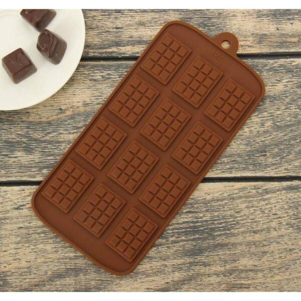 Форма силиконовая для льда и шоколада Мини шоколадная плитка.