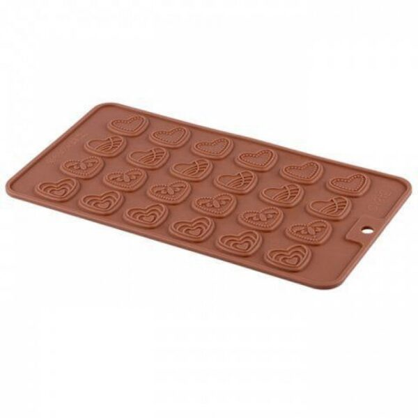 Форма силиконовая для льда и шоколада Сердца плоские.