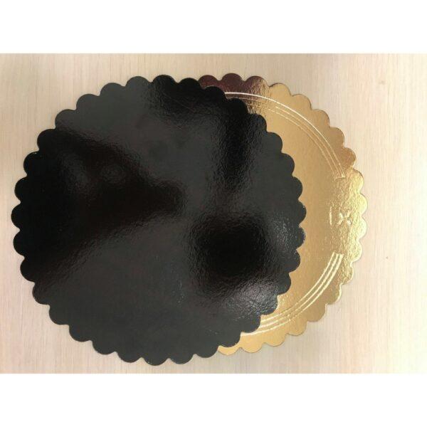 Подложка Ромашка двухсторонняя 3.2 мм. зол./чёр. , d 30 см.