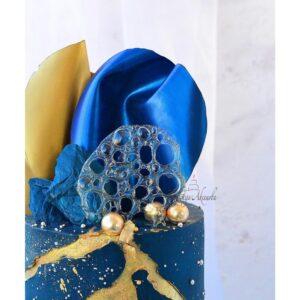 """Кандурин плотный """"Супер блеск"""" насыщенный синий, 10г."""