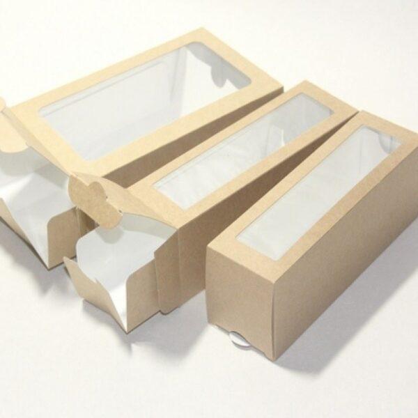 Упаковка для макарунсов на 6 шт c окном
