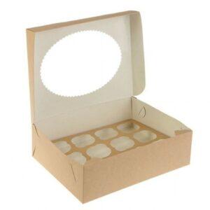 Упаковка для маффинов на 12 штук с окном