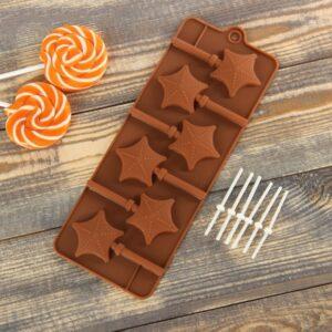 Форма силиконовая для леденцов и мороженого.