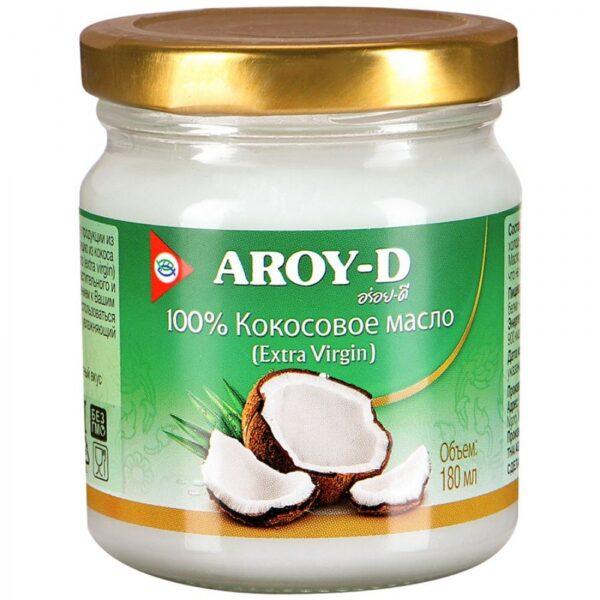 Кокосовое масло Aroy-D Extra Virgin Coconut Oil, 180 мл.