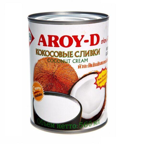Кокосовые сливки Aroy-D 70%, 560 мл.
