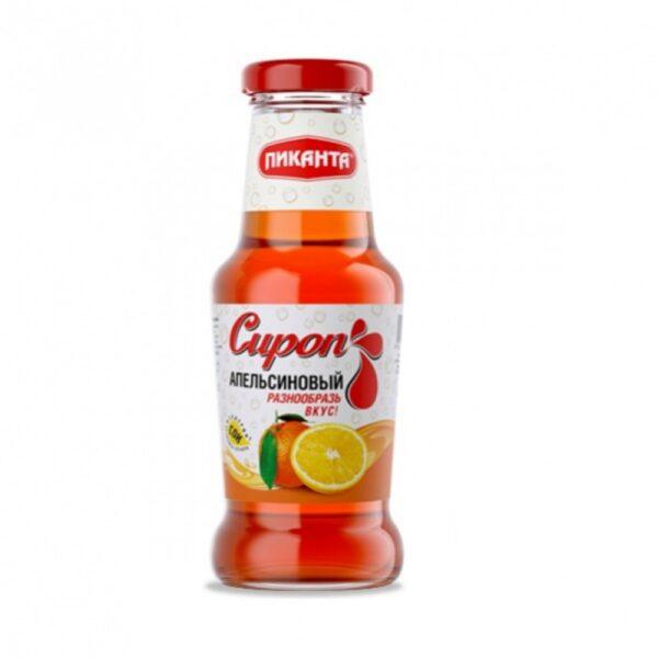 """Сироп """"Пиканта"""" апельсиновый, 250 мл."""