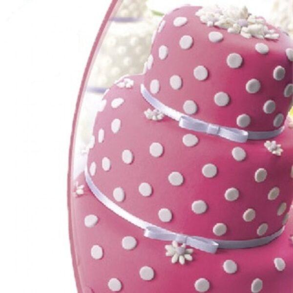 Мастика ванильная розовая 0,6кг